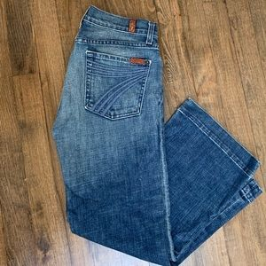 7 for All Mankind Cropped Denim Jeans Sz.27